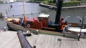 het origineel in de Amsterdamse haven.