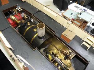 de stoommachine in Erics model